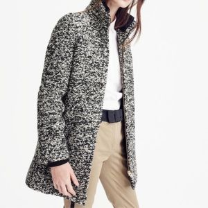 Lodge coat in specked boucle